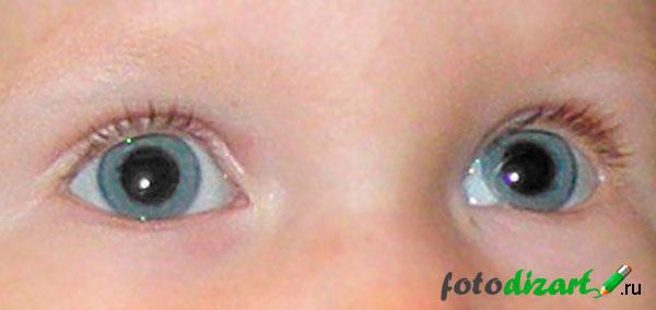 итог удаления эффекта красные глаза на фото