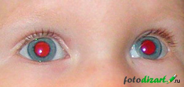 красные глаза на фото