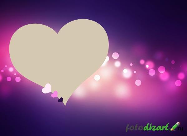 три сердца на валентинке