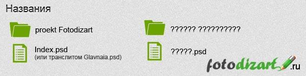 названия файлов основы веб дизайна